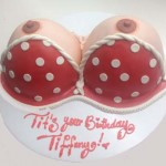 Perky-pointy-nipples-white-poco-dot-red-bikini-tit-erotic-cake