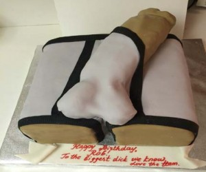 Black-and-white-Gigantic-George-bulging-Dick-popping-out-of-underwear-sex-cake