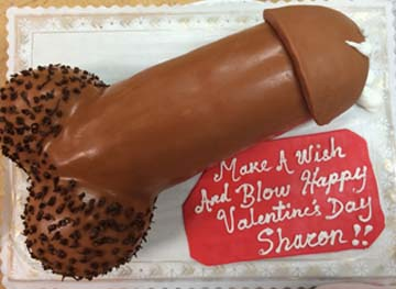 Erotic cakes, cupcakes, candies, and some surprises