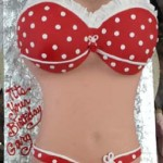 Sexy-white-pocodot-ruffle-red-bikini-erotic-Love-Melons-torso-cake