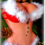 Santas-sexy-female-busting-chest-torso-red-bikini-erotic-cake