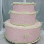 Pink-shiffon-Yellow-trim-popout-cake-#24